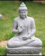 Buddha stone statue in Vitarka mudra - Garden and Landscape decor