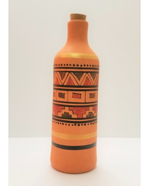 Round Water Bottle with Pattern
