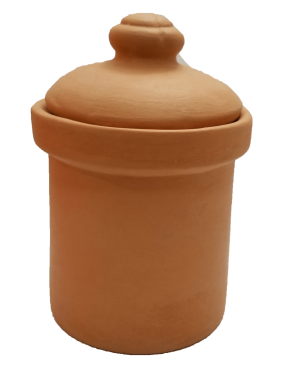 Round Pickle Jar with Lid - 1