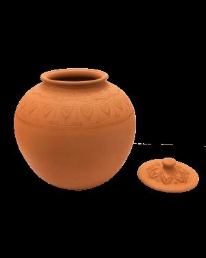 Plain Clay Water Pot With Lid Medium - 2