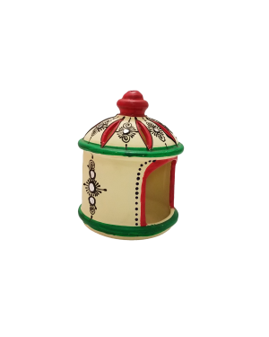 Hut shaped agal to light diyas or candle - 2