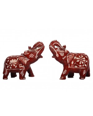 Elephant Red Marble Set