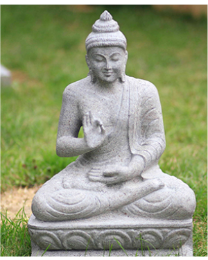 Buddha stone statue in Vitarka mudra - Garden and Landscape decor
